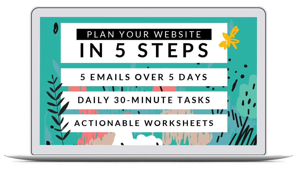 Plan your website in 5 days - 5 days 5 emails