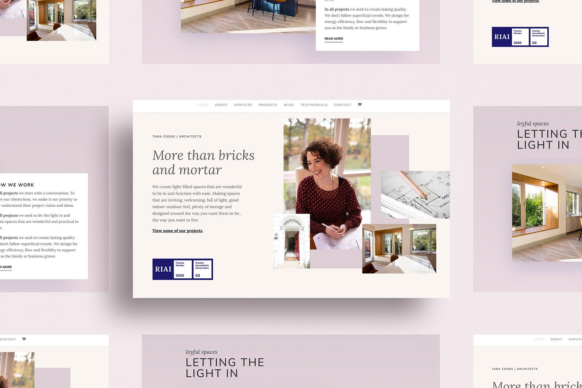 Website design for life coach, Ireland
